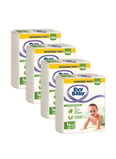 Evy Baby Evy Baby Bebek Bezi 4 Beden Maxi 4'lü Fırsat 120 Adet Duru Sabun 400gr Hediyeli Renkli